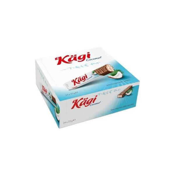(代引き不可)Kagi(カーギ) チョコウエハース ココナッツバー 25g×24本