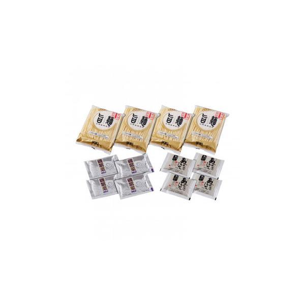 (代引き不可)「旨麺」あごだし醤油ラーメンセット(磯紫菜付) 4食セット FA-4i