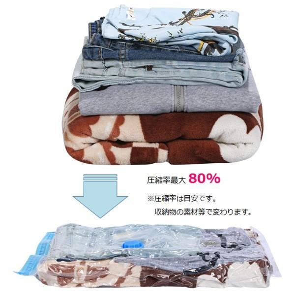 圧縮袋 衣類 布団 収納 旅行 引越し 布団圧縮袋 衣類圧縮袋 5枚セット ( Sサイズ 40cm×60cm ) 手動ポンプ付き 送料無料|cs-meister-shop|02