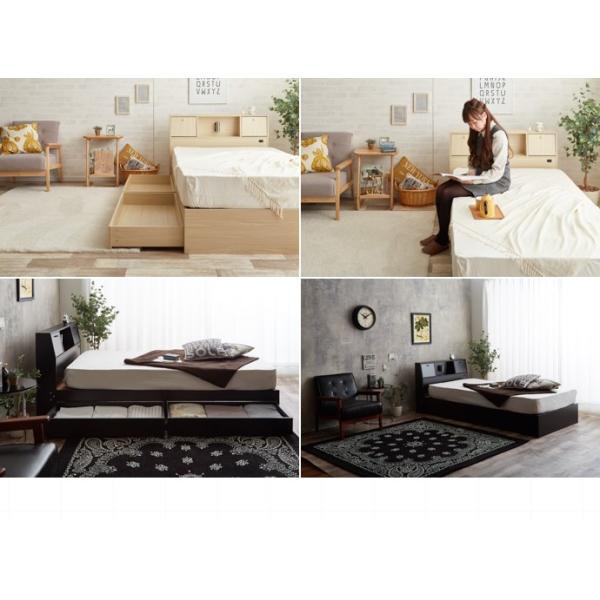 ベッド セミダブルベッド ベッドフレーム単品 収納付き コンセント付き 照明付き ベッド下収納 SD セミダブル|cs-meister-shop|16
