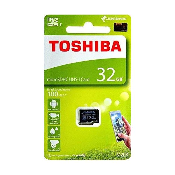 32GB TOSHIBA 東芝 microSDHCカード CLASS10 UHS-I対応 R:100MB/s 海外リテール