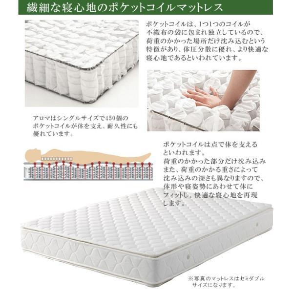 マットレス セミダブル ポケットコイル ポケットコイルマットレス ベッド用 セミダブルマット セミダブルサイズ 寝具|csinterior|03
