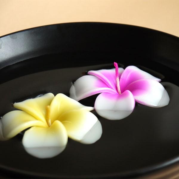 プルメリアアソート フローティングキャンドル 12個入り / 水に浮かぶキャンドル 1個あたり206円 ハワイアン南国 アジアン|csselect