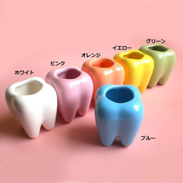 つまようじスタンドデンタ君 / 歯のデザインの雑貨 歯ブラシスタンド 歯間ブラシ置きにも|csselect|02