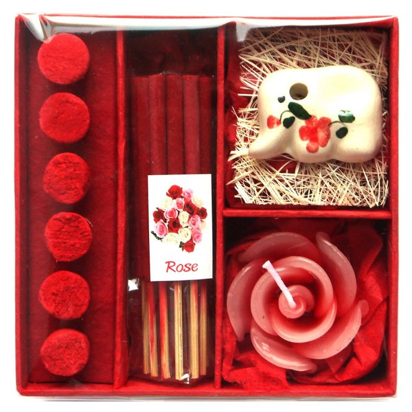 アロマギフトBOX  / 退職ギフトお返しプチギフト アロマキャンドルと2種類のお香が入ったギフトボックス アロマグッズのセット 7色から選べます!|csselect|11