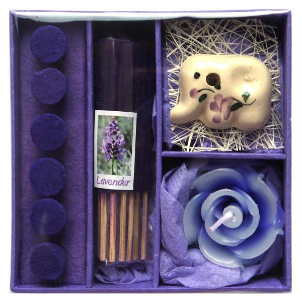 アロマギフトBOX  / 退職ギフトお返しプチギフト アロマキャンドルと2種類のお香が入ったギフトボックス アロマグッズのセット 7色から選べます!|csselect|12