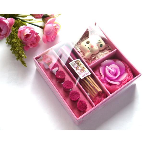 アロマギフトBOX  / 退職ギフトお返しプチギフト アロマキャンドルと2種類のお香が入ったギフトボックス アロマグッズのセット 7色から選べます!|csselect|13