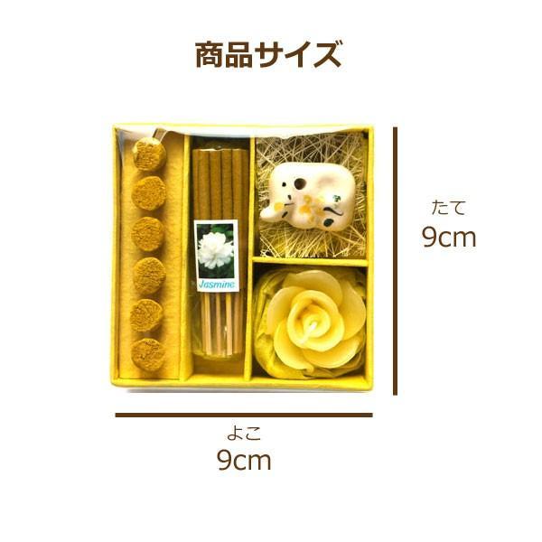 アロマギフトBOX  / 退職ギフトお返しプチギフト アロマキャンドルと2種類のお香が入ったギフトボックス アロマグッズのセット 7色から選べます!|csselect|05