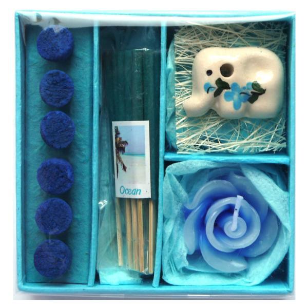アロマギフトBOX  / 退職ギフトお返しプチギフト アロマキャンドルと2種類のお香が入ったギフトボックス アロマグッズのセット 7色から選べます!|csselect|06