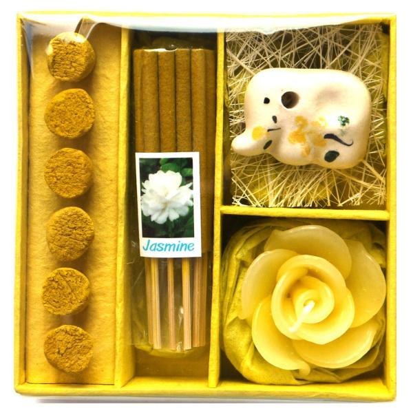 アロマギフトBOX  / 退職ギフトお返しプチギフト アロマキャンドルと2種類のお香が入ったギフトボックス アロマグッズのセット 7色から選べます!|csselect|08