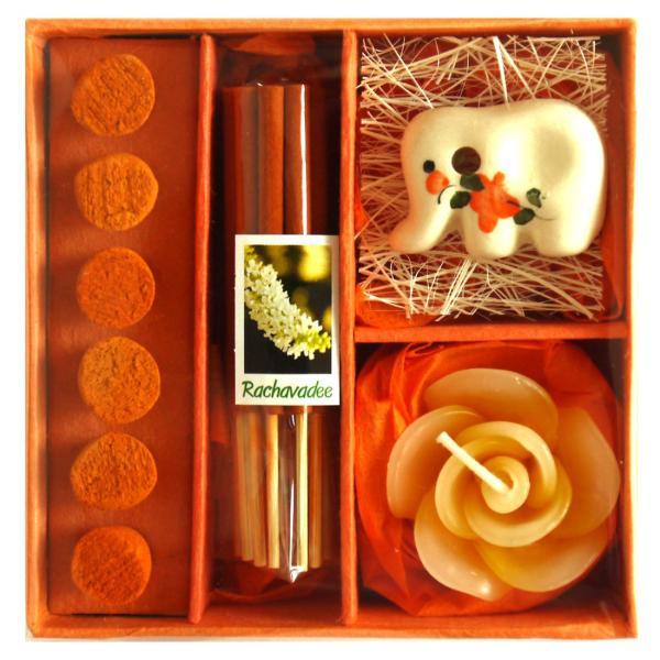 アロマギフトBOX  / 退職ギフトお返しプチギフト アロマキャンドルと2種類のお香が入ったギフトボックス アロマグッズのセット 7色から選べます!|csselect|09