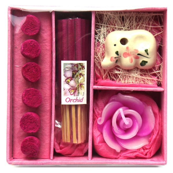 アロマギフトBOX  / 退職ギフトお返しプチギフト アロマキャンドルと2種類のお香が入ったギフトボックス アロマグッズのセット 7色から選べます!|csselect|10