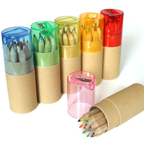 色鉛筆ギフトセット12本 鉛筆削りつき / お返しギフト・イベント・セミナー・開店の記念品、退職・結婚式プチギフトに|csselect