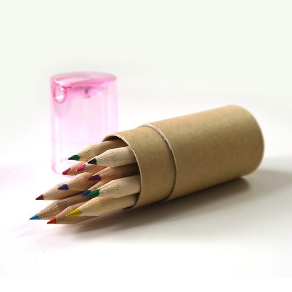 色鉛筆ギフトセット12本 鉛筆削りつき / お返しギフト・イベント・セミナー・開店の記念品、退職・結婚式プチギフトに|csselect|02