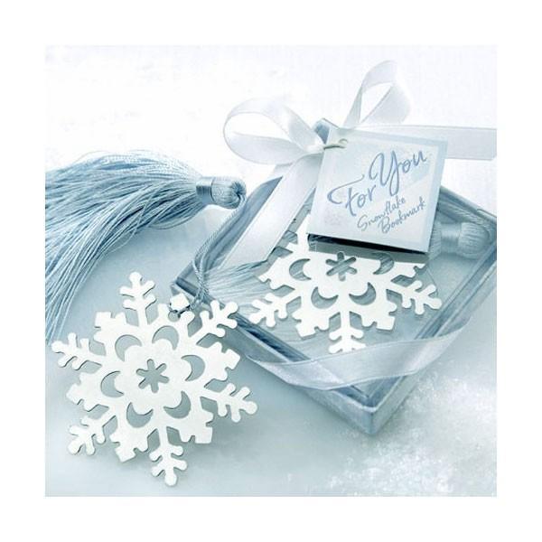 スノーフレーク雪の結晶ブックマーク  / 冬のお返しギフト・退職・結婚式プチギフトに 文房具のギフト しおり|csselect