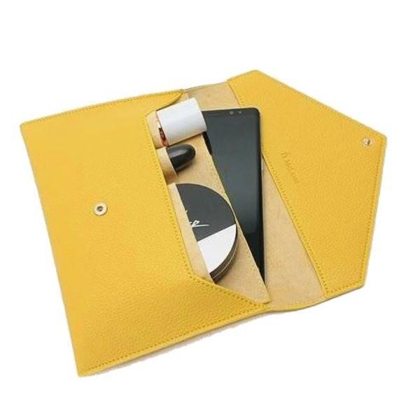 全7色 整理できるポケット付仕切りが付いたカラフルクラッチバッグ/ブラック