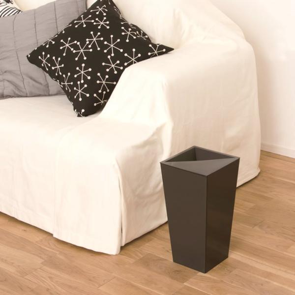 ゴミ箱 おしゃれ ユニード カクス 9L S-36 クッチーナ ゴミ箱 スリム ふた付き 角型 スクエア シンプル ごみ箱 ダストボックス リビング 寝室 cucina-y 06