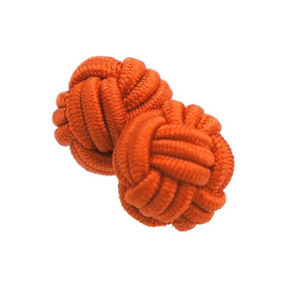 ガムカフス ゴムカフス 組紐 組み紐 カフス カフスボタン カフリンクス レッド オレンジ