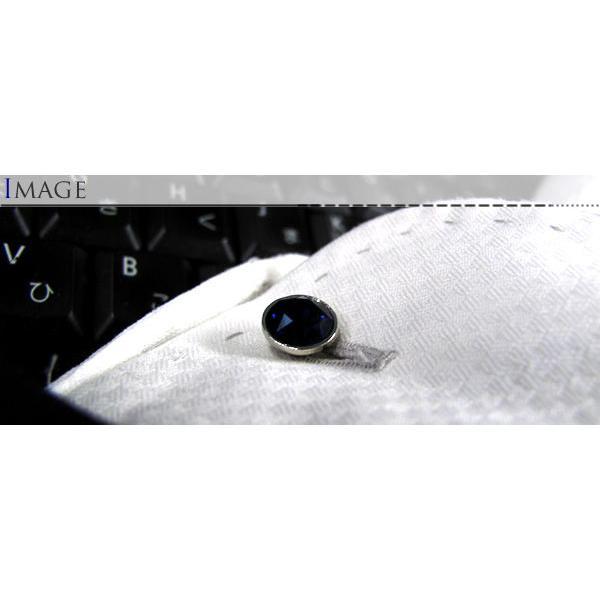 スワロフスキー ダブル9mmカフス (カフスボタン カフリンクス)|cufflink|05