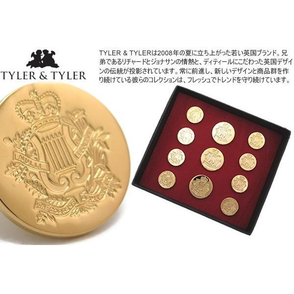 TYLER & TYLER タイラー&タイラー ボタンセット シングルブレスト コーオブアーミーミュージック (ジャケット ブレザー) ブランド|cufflink