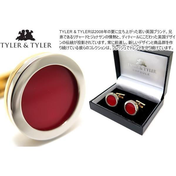TYLER & TYLER タイラー&タイラー カプセルツートンボールドカフス(レッド) ブランド|cufflink