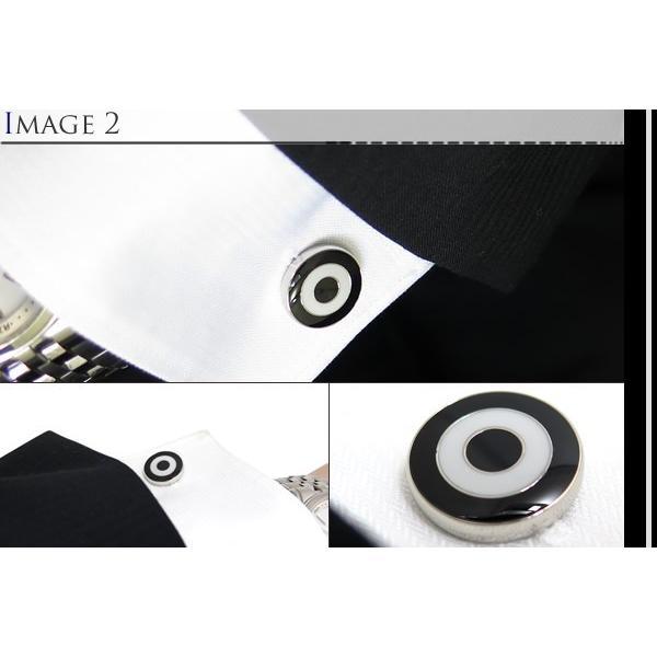 TYLER & TYLER タイラー&タイラー カプセルボールドブルズアイカフス(ブラック/ホワイト) ブランド|cufflink|04