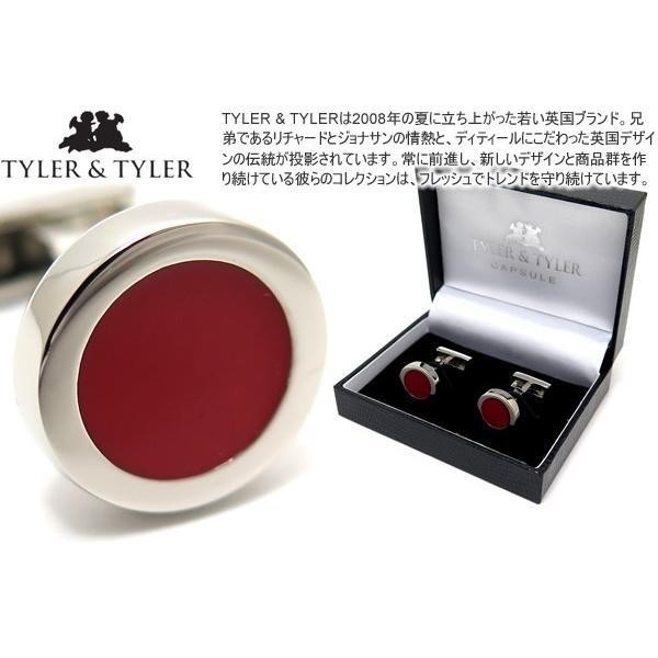 TYLER & TYLER タイラー&タイラー カプセルオーサーカフス(ディケンズレッド) ブランド cufflink