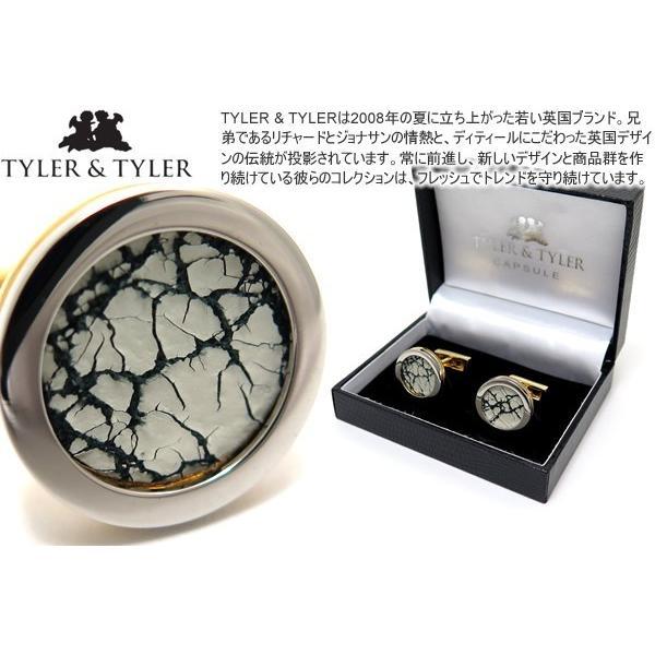 TYLER & TYLER タイラー&タイラー カプセルツートンハイドカフス(クラックホワイト) ブランド|cufflink