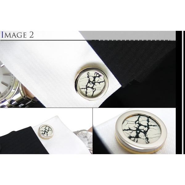 TYLER & TYLER タイラー&タイラー カプセルツートンハイドカフス(クラックホワイト) ブランド|cufflink|04