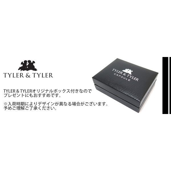 TYLER & TYLER タイラー&タイラー カプセルツートンハイドカフス(クラックホワイト) ブランド|cufflink|05