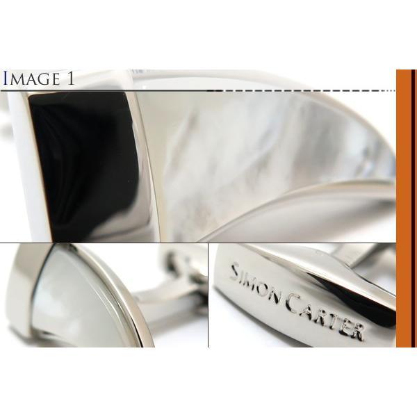 SIMON CARTER サイモン・カーター タスクカフス(白蝶貝) (カフスボタン カフリンクス)|cufflink|03
