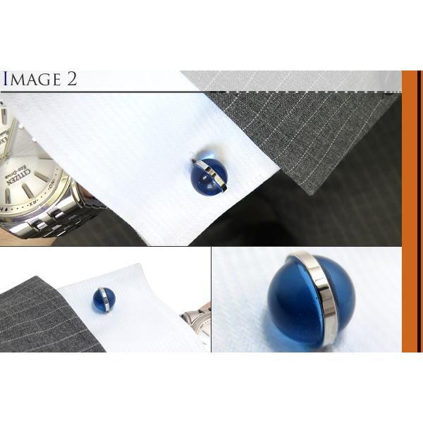 SIMON CARTER サイモン・カーター グラスグローブカフス(ブルー) (カフスボタン カフリンクス) cufflink 04
