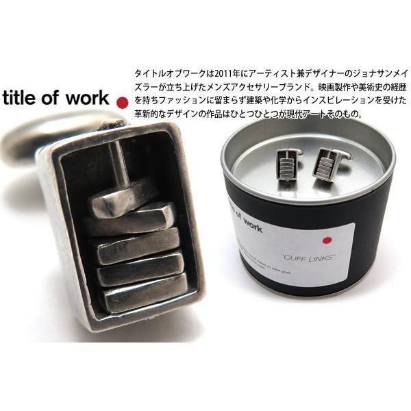 title of work タイトルオブワーク シルバーエンケースドスピナーカフス (カフスボタン カフリンクス)|cufflink