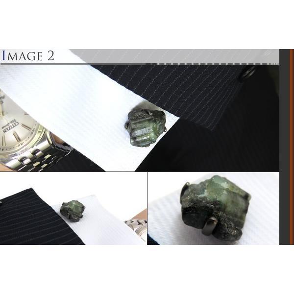 JAN LESLIE ジャンレスリー ロウエメラルドオンブラックルテニウムシルバーカフス (カフスボタン カフリンクス) ブランド cufflink 04