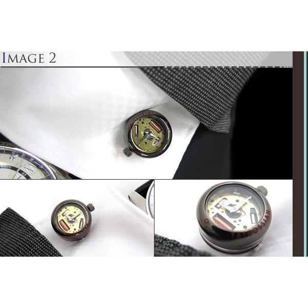 TATEOSSIAN タテオシアン メカニカル パノラマ時計カフス(ガンメタル) (カフスボタン カフリンクス) ブランド|cufflink|04