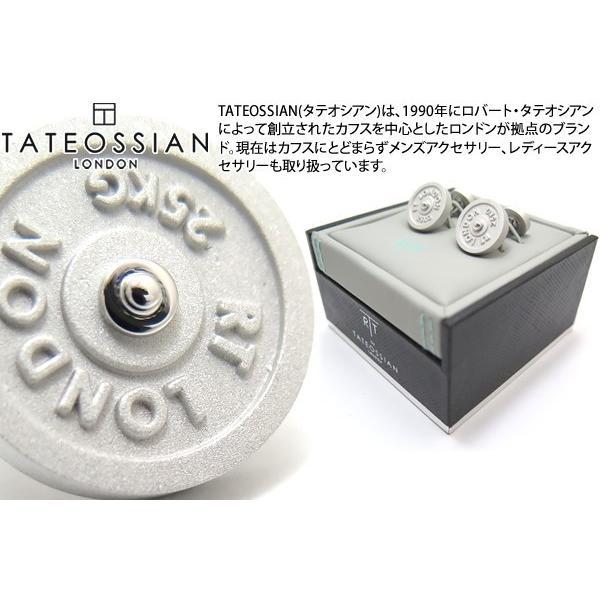 TATEOSSIAN タテオシアン インダストリアル フリーウエイトカフス(マットロジウム) (カフスボタン カフリンクス) ブランド|cufflink