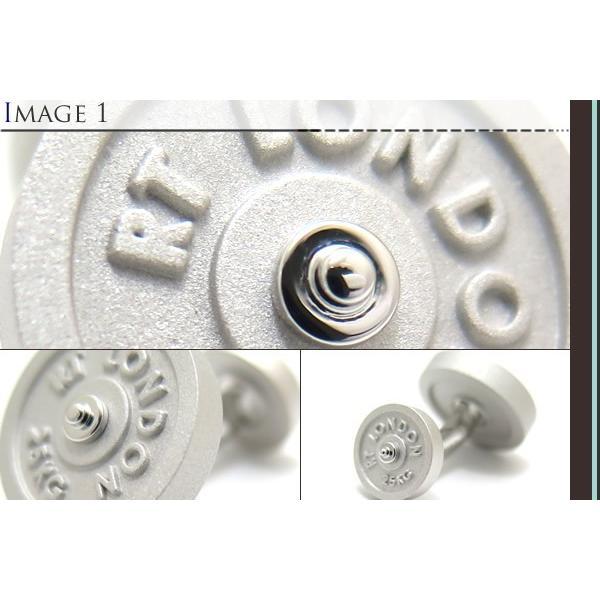 TATEOSSIAN タテオシアン インダストリアル フリーウエイトカフス(マットロジウム) (カフスボタン カフリンクス) ブランド|cufflink|03