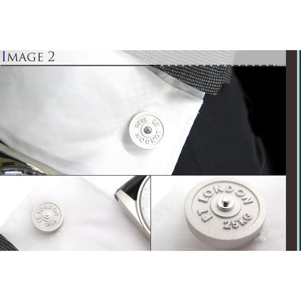TATEOSSIAN タテオシアン インダストリアル フリーウエイトカフス(マットロジウム) (カフスボタン カフリンクス) ブランド|cufflink|04