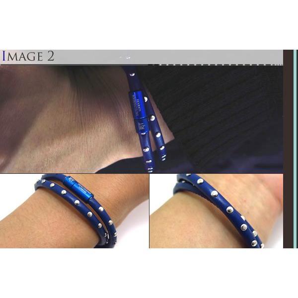 TATEOSSIAN タテオシアン ミニスタッズブレスレット(ブルー) (レザーブレスレット) ブランド|cufflink|04