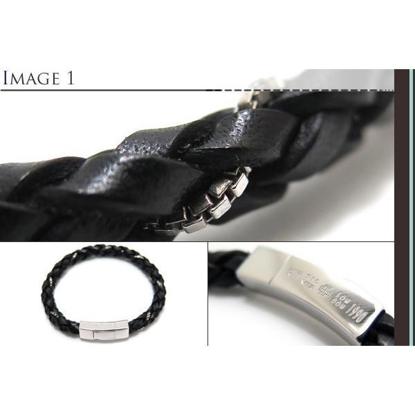 TATEOSSIAN タテオシアン シルバー編み上げウィーブブレスレット(ブラック) ブランド cufflink 03