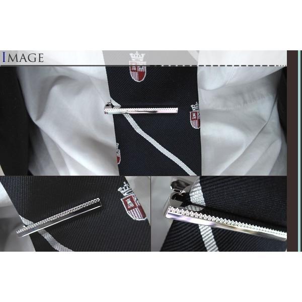 P10倍 TATEOSSIAN タテオシアンタイバー  グリッド ロジウム(タイピン タイクリップ) ブランド|cufflink|03