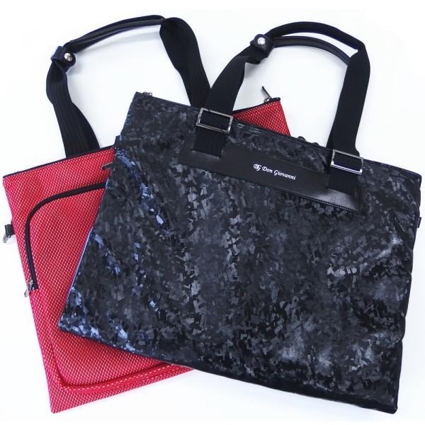 取寄品 DonGiovanniドン ジョバンニ 日本製 二つ折りソフトタイプ ビジネス トラベル バッグ ブラック レッド メンズ スーツ プレゼント カフスマニア