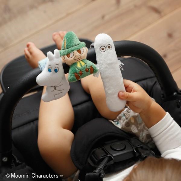 ムーミンベビー にぎにぎスティック ニョロニョロ ラトル ベビーカー用おもちゃ 出産祝い 赤ちゃん おもちゃ