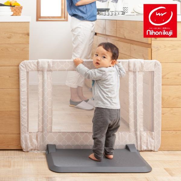 ベビーゲート 置くだけ キッチン おくだけとおせんぼ Sサイズ 日本育児|cunabebe