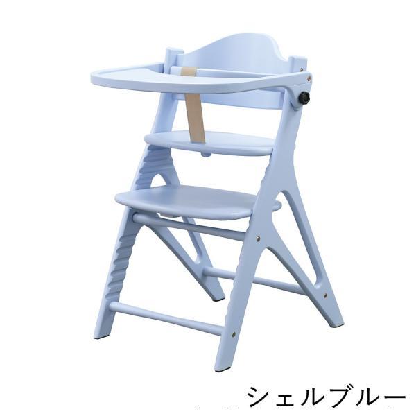 ベビーチェア ハイタイプ 長く使える 木製ハイチェア アッフル チェア テーブル付き|cunabebe|07
