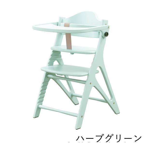 ベビーチェア ハイタイプ 長く使える 木製ハイチェア アッフル チェア テーブル付き|cunabebe|08