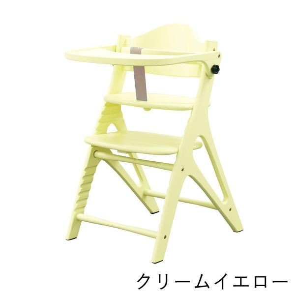 ベビーチェア ハイタイプ 長く使える 木製ハイチェア アッフル チェア テーブル付き|cunabebe|11
