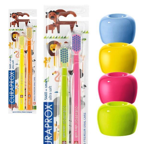 【ラッピング袋付】 クラプロックス 歯ブラシ 7000円分 ファミリー向けギフトセット|curaprox