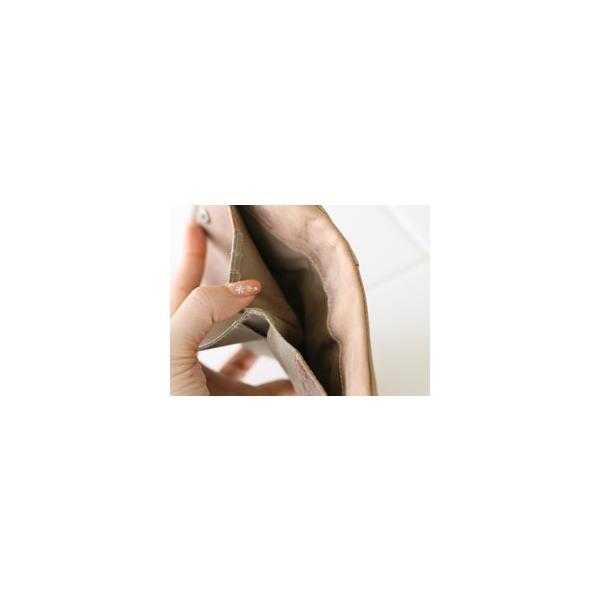 ファスナー&がま口・ダブルポケット二つ折り財布(メンズ革財布・レディースレザー財布)[Ain Soph/アインソフ・プレゼントにお勧め]【送料無料】|curicolle|04