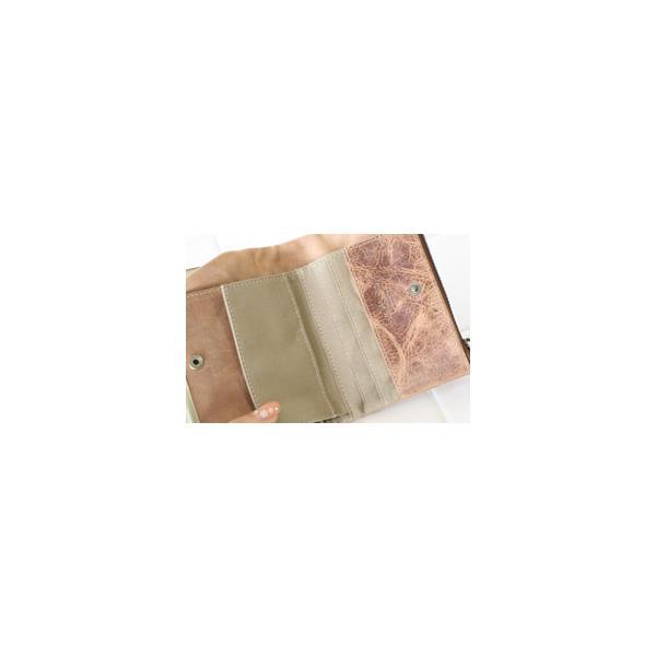 ファスナー&がま口・ダブルポケット二つ折り財布(メンズ革財布・レディースレザー財布)[Ain Soph/アインソフ・プレゼントにお勧め]【送料無料】|curicolle|05